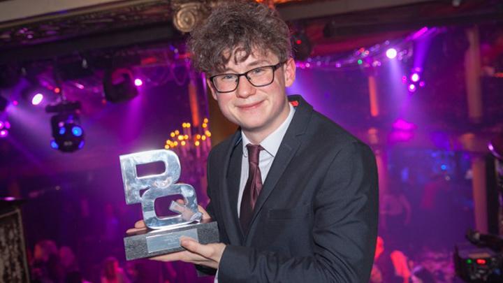 Zane Salmon with his PQ award