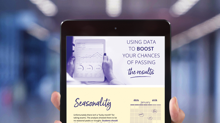 Infographic on a tablet device