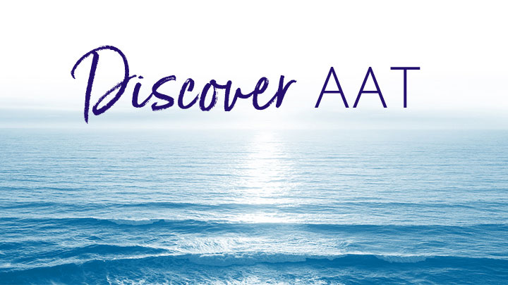 Ocean waves with Discover AAT text