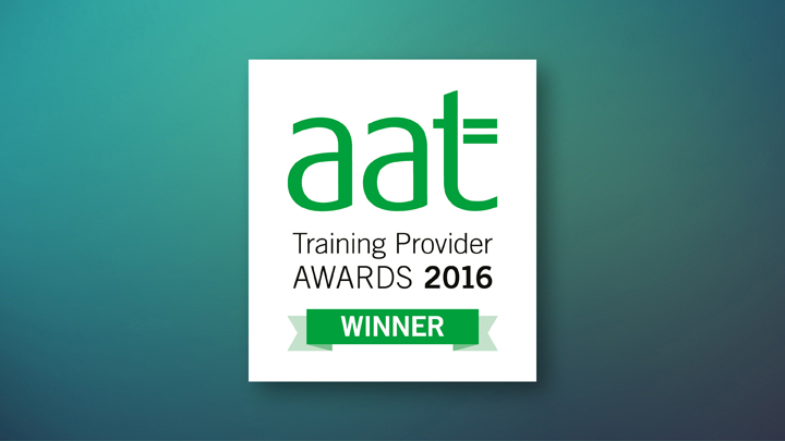 AAT Training Provider Awards 2016 Winner