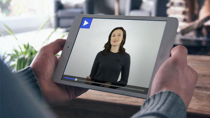 An ipad with a tutor on it