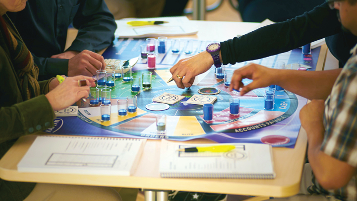 The Kaplan Business Challenge board game