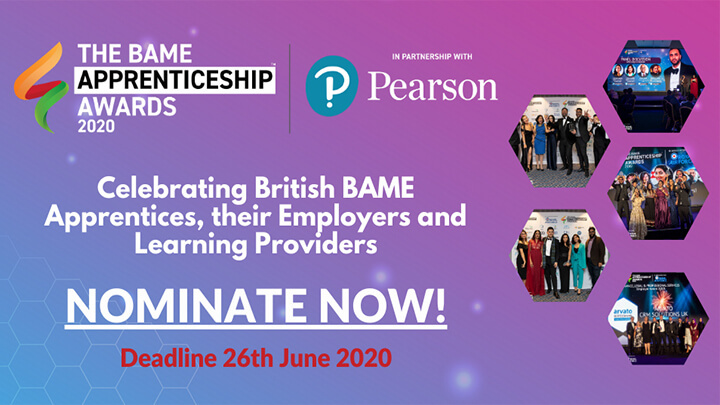BAME apprenticeship awards promo graphic