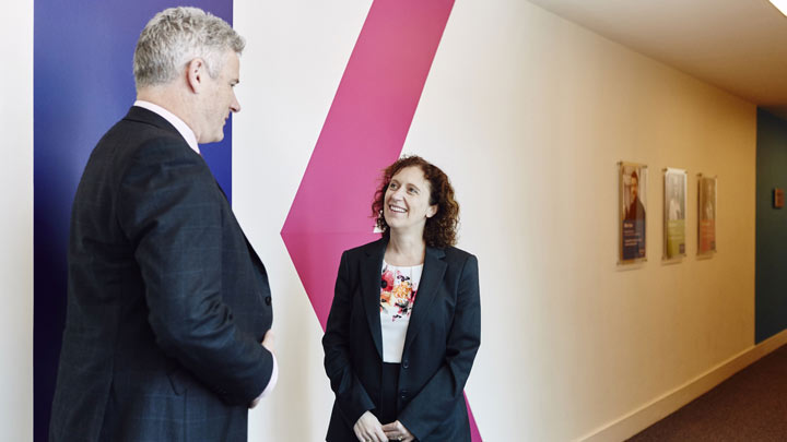 Peter Stewart, CIMA Director of Learning and Zoe Robinson, Kaplan Director of Accountancy