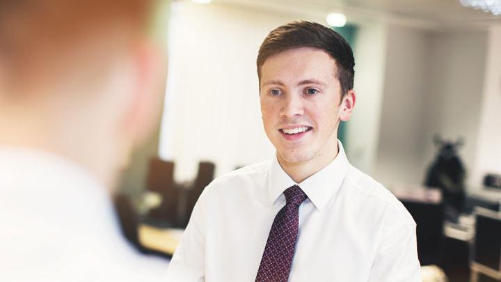 A financial services apprentice