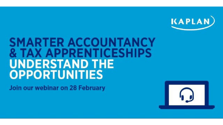 Join our Smarter Accountancy & Tax Apprenticeships webinar