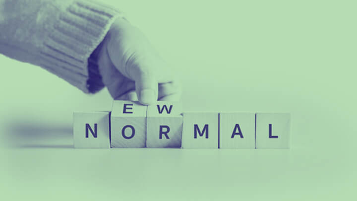 Letter blocks that spell out the word normal