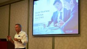 Martin West at the Kaplan Business Challenge event in Abu Dhabi