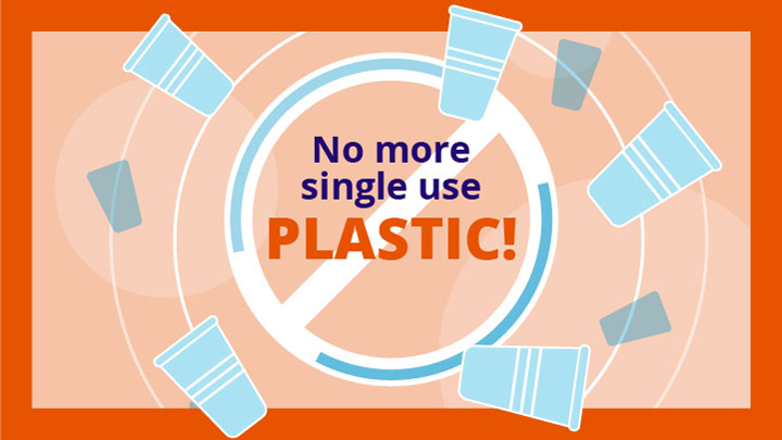 No more single use plastic graphic