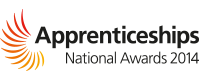 Apprenticeships national awards 2014 logo