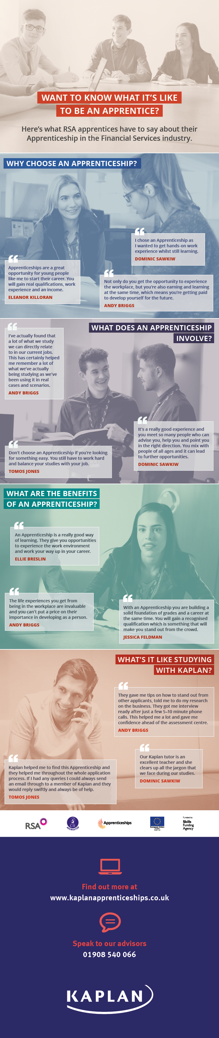 Want to know what it's like to be an apprentice?
