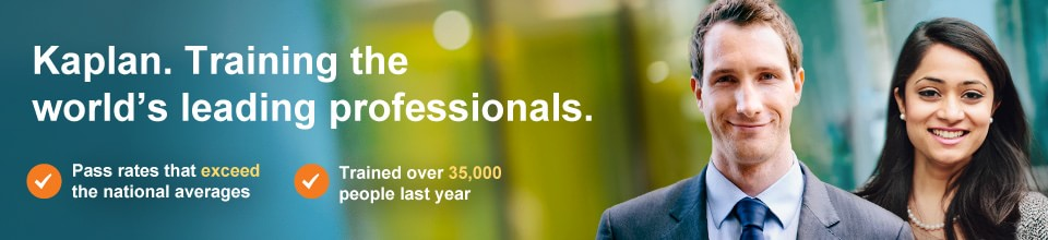Kaplan. Training the  world's leading professionals.